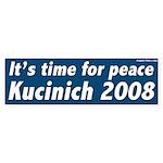 Time for Peace Kucinich 2008 bumper sticker