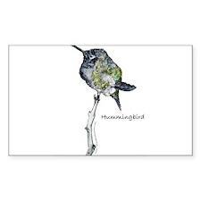 Hummingbird Rectangle Decal