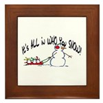 All in who you SNOW Framed Tile