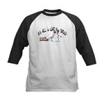 All in who you SNOW Kids Baseball Jersey