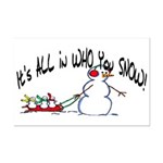 All in who you SNOW Mini Poster Print