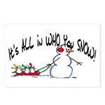 All in who you SNOW Postcards (Package of 8)