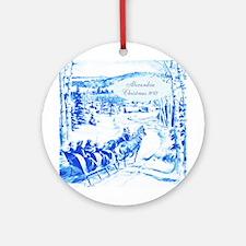 Personalized Delft Like Blue China Ornament