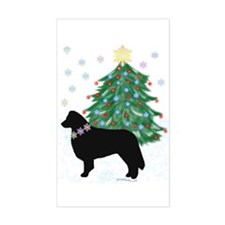 Yuletide Collie Rectangle Decal
