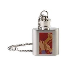 Jazz Trumpet Flask Necklace