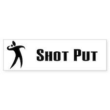 Shot Put Bumper Car Sticker
