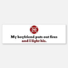 I Light His Fire Bumper Bumper Bumper Sticker