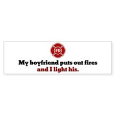 I Light His Fire Bumper Bumper Sticker
