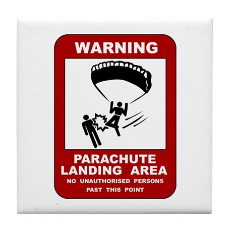 Parachute Landing Area Skydiving Tile Coaster