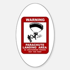 Parachute Landing Area Skydiving Oval Decal