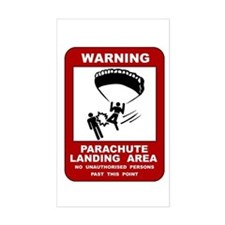 Parachute Landing Area Skydiving Sticker (Rectangu