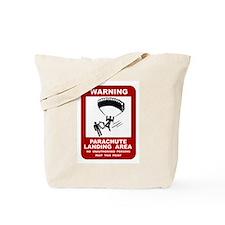 Parachute Landing Area Skydiving Tote Bag