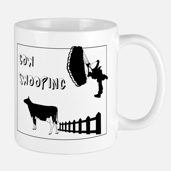 Cow Swooping Skydiving Mug
