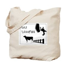 Cow Swooping Skydiving Tote Bag