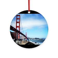 Golden Gate Round Ornament