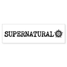 Supernatural Bumper Car Sticker Bumper Car Sticker