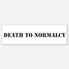 Misha Collins Death To Normalcy Bumper Sticker Bum