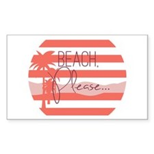 Beach, Please... Decal