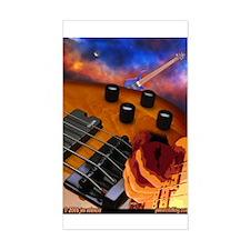 Bass Art 1 Rectangle Decal