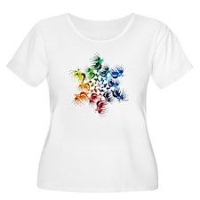 Betta Color Swirl Plus Size T-Shirt