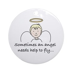Special Angel Ornament (Round)