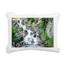 Waterfall above Zermatt  Rectangular Canvas Pillow