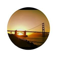 """Golden Gate Sunset  3.5"""" Button"""