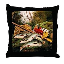 Brook Trout Throw Pillow