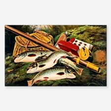 Brook Trout Sticker (Rectangle)