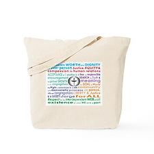 UU 7 Principles Tote Bag