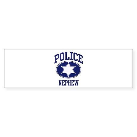 Police NEPHEW (badge) Bumper Sticker
