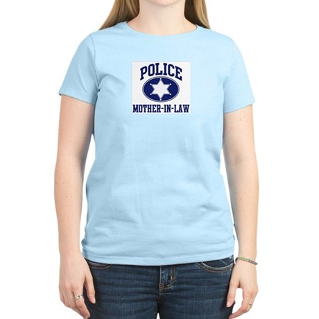 Police MOTHER-IN-LAW (badge) Women's Pink T-Shirt