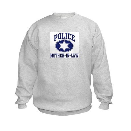 Police MOTHER-IN-LAW (badge) Kids Sweatshirt