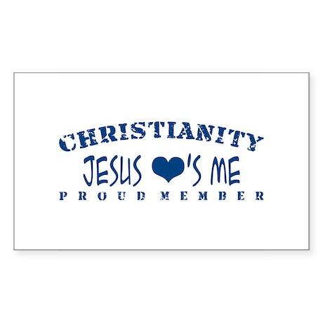 Jesus Loves Me - Christianity Sticker (Rectangular