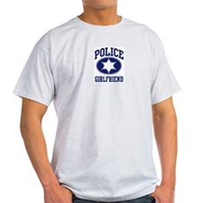 Police GIRLFRIEND (badge) Ash Grey T-Shirt