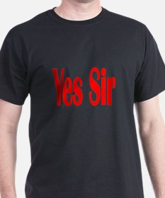 Yes Sir Black T-Shirt