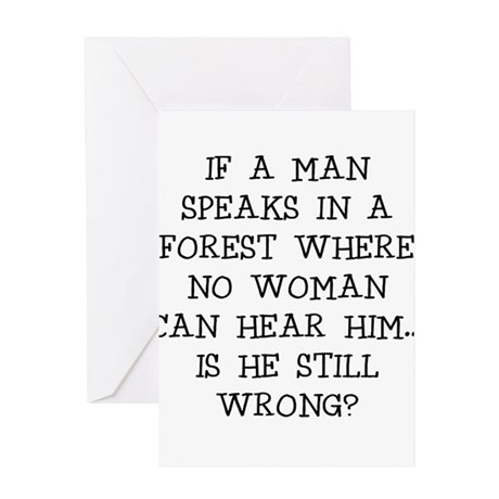 IF A MAN SPEAKS Greeting Cards