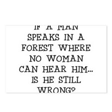 IF A MAN SPEAKS Postcards (Package of 8)