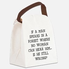 IF A MAN SPEAKS Canvas Lunch Bag