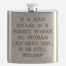 IF A MAN SPEAKS Flask