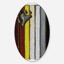 BEAR PRIDE MOSAIC VERTICAL F Oval Decal