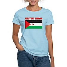 Western Sahara Flag Women's Pink T-Shirt