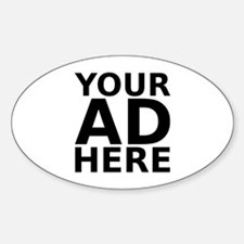 YOUR AD HERE Oval Decal