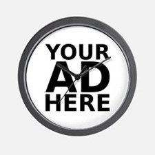 YOUR AD HERE Wall Clock