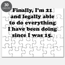 Finally im 21 Puzzle