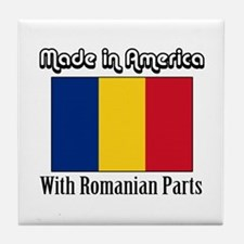 Romanian Parts Tile Coaster