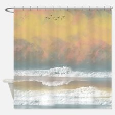 Ocean View Waves Water And sky Shower Curtain