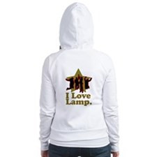 I Love Lamp Fitted Hoodie