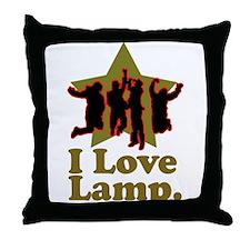 I Love Lamp Throw Pillow