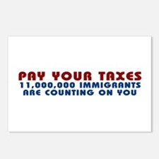 PAY YOUR TAXES: IMMIGRANTS AR Postcards (Package o